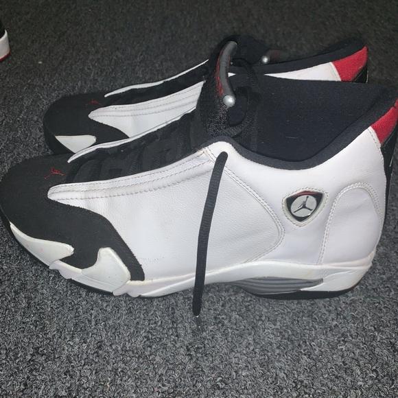 Air Jordan 4 Gs Black Toe 14s